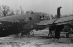 Damaged He111 with night camo Lille France