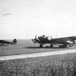 He 111 at a captured Soviet airfield
