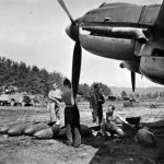 Heinkel He111 and bombs at airfield