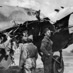 Heinkel He 111 rammed by soviet pilot. He111 H-4 coded 1T+HK of the I/KG 28