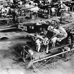 Heinkel He 111 planes on assembly line in factory