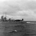 battleship Gneisenau and Heinkel He 111 North Sea 1939