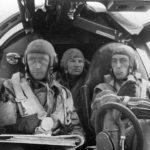 Pilot and crew in cockpit of Heinkel He 111