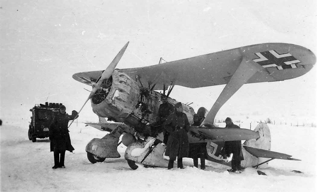 Hs 123B 1942 on the Eastern Front, winter