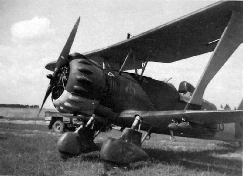 Hs123 of the 1.(S)/LG 2 during Operation Barbarossa, Michalitzki August 1941