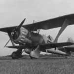 Henschel Hs 123A +B09 on a grass landing ground