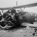 "Crashed Henschel Hs 123 code ""L"" of SchG1"