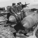 German Airmen, SC1000 bombs and Ju 88 of X Fliegerkorps in Sicily 1941