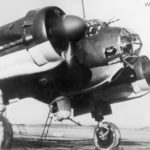 Ju 88A-4 warming up its engines