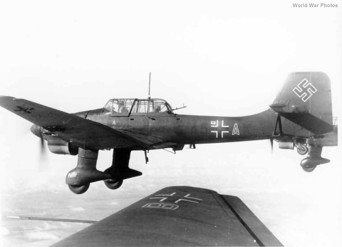 Ju 87B Stuka A5-AK in flight