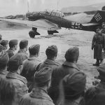 Milch inspecting Luftwaffe pilots in Trondheim 23apr40