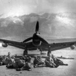 German dive bomber Ju87 R on the ground