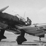 JU87 B Stuka pilot in the cockpit 1940