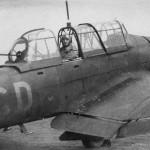 Junkers Ju87 B code 6G+CD of StG 51 rear gunner in his position