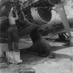 Junkers Ju87 B engine maintenance