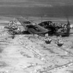 Junkers Ju 87 D-3 of StG 2 winter camouflage in flight