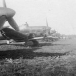 Torpedo planes Junkers Ju 87 Stuka on grass airfield