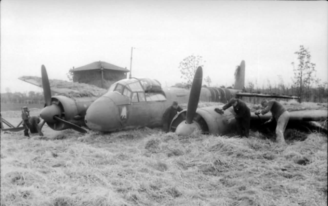 Crashed Ju88 C France
