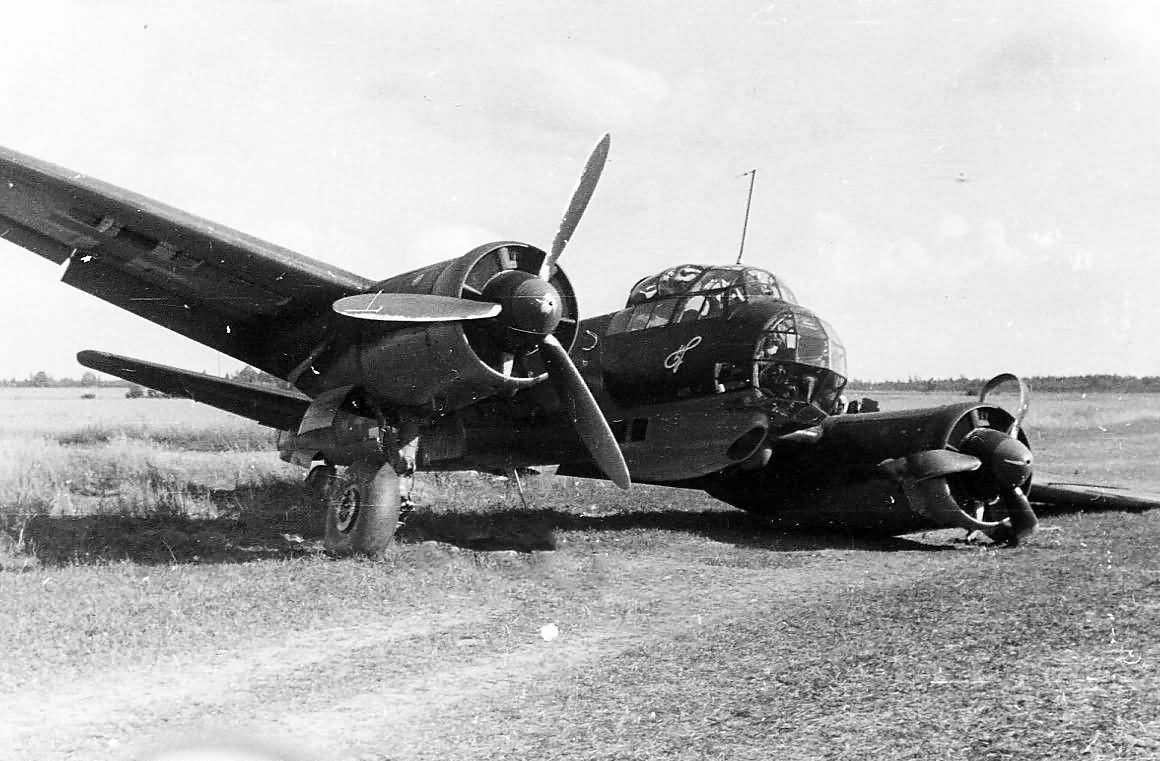 Crashed Ju88 of KG 1
