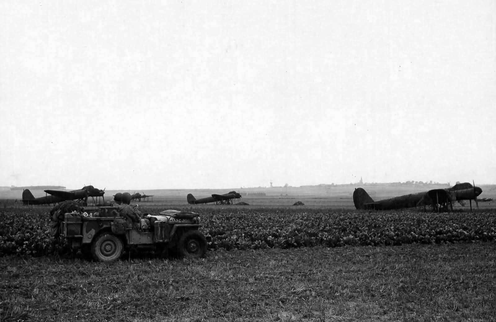 Dummy Ju88 Epinay airfield France September 1944