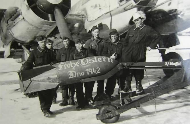 Ju 88 Winter Ostergruss Dno Russia 1942