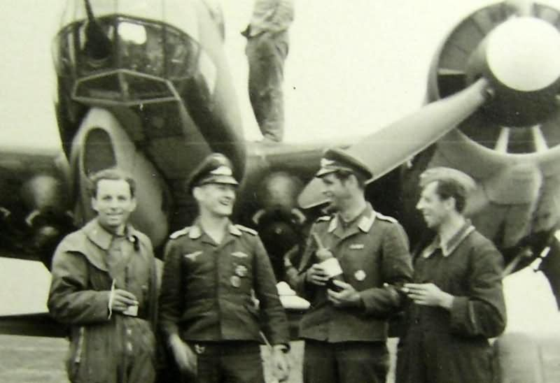 Ju 88 and crew