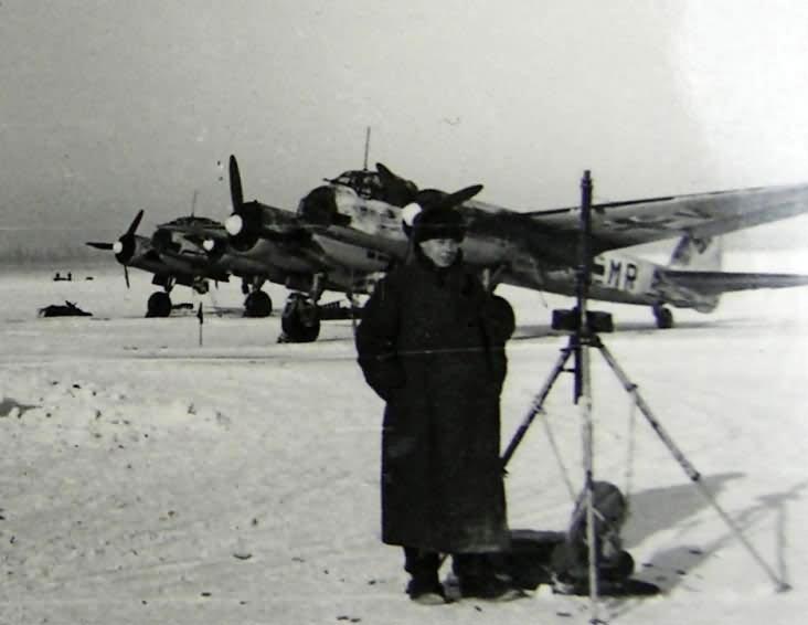 JU 88 bomber Winter camo Russia