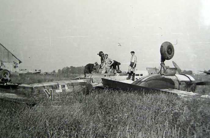 JU 88 crash in Pleskau Russia