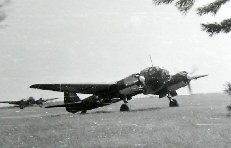 Ju 88 at a captured Soviet airfield