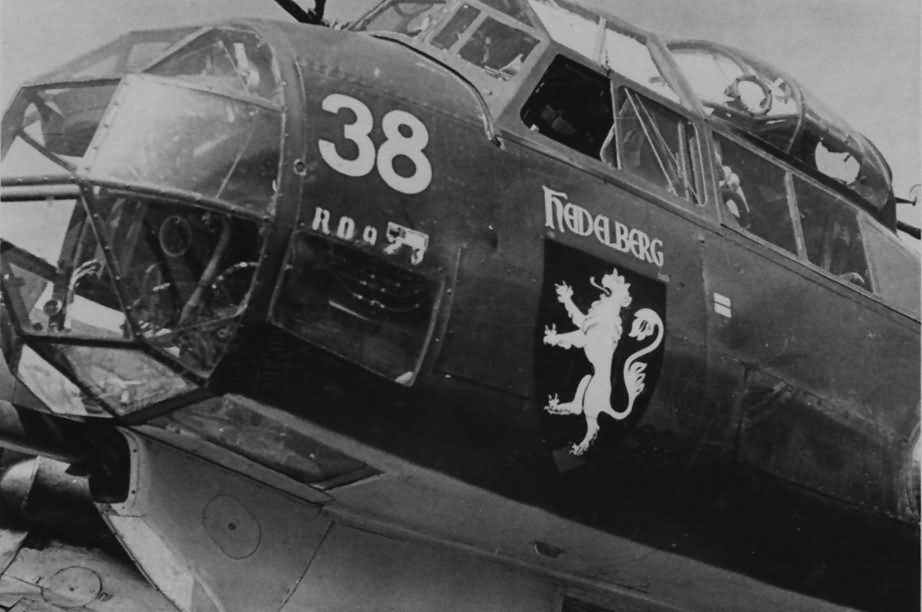 Ju88 of the III/KG76 Heildelberg, numer 38