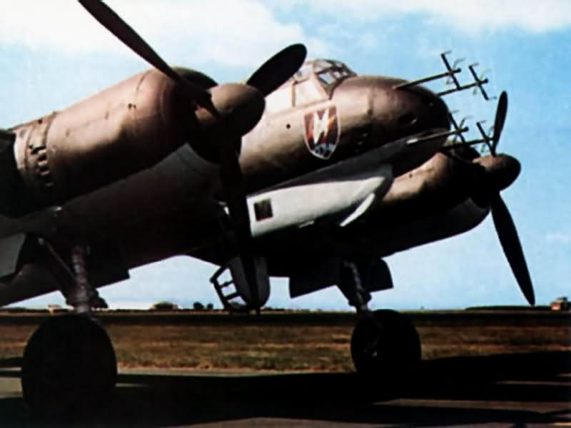 Ju88 of the NJG3 color photo