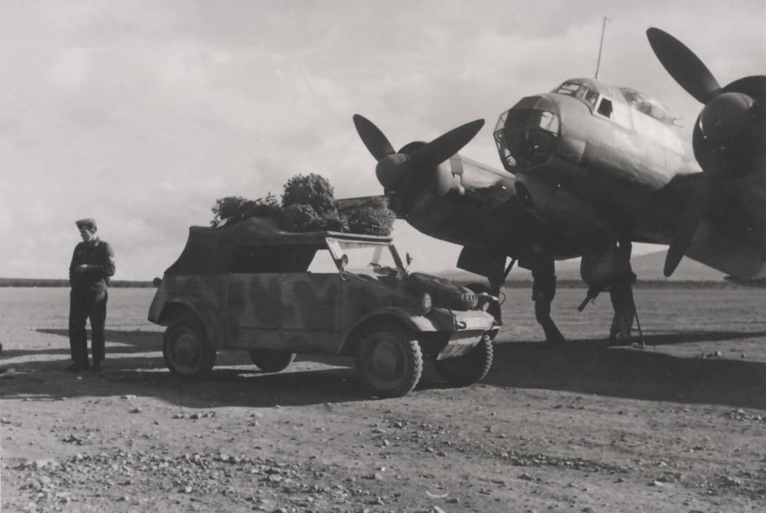 Ju88 and VW Kubelwagen Agais Aufklarungsgruppe 2 F 123 1943