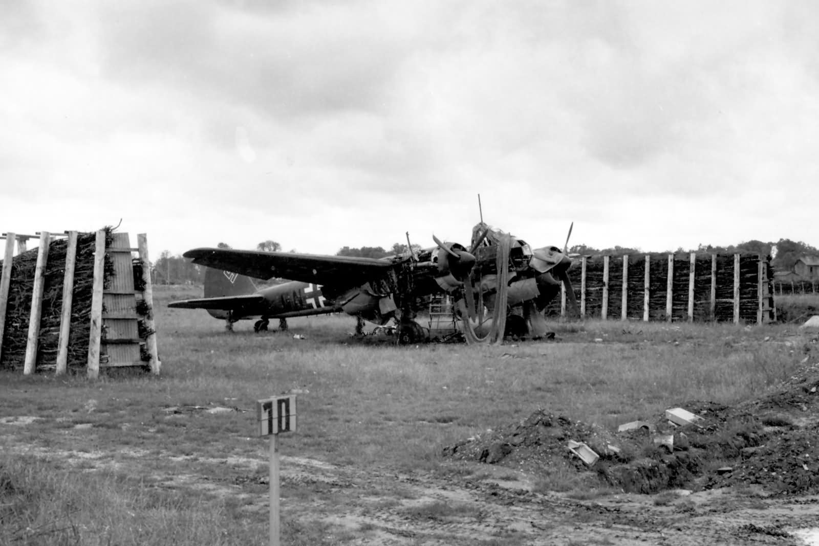 Ju88 at Villacoublay Airfield France September 1944