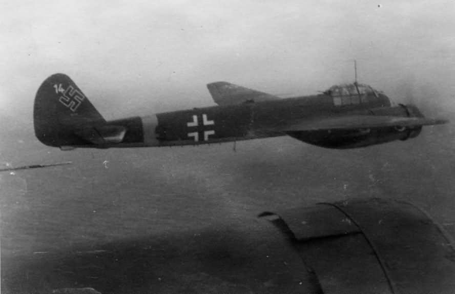 Ju88 bombers in flight