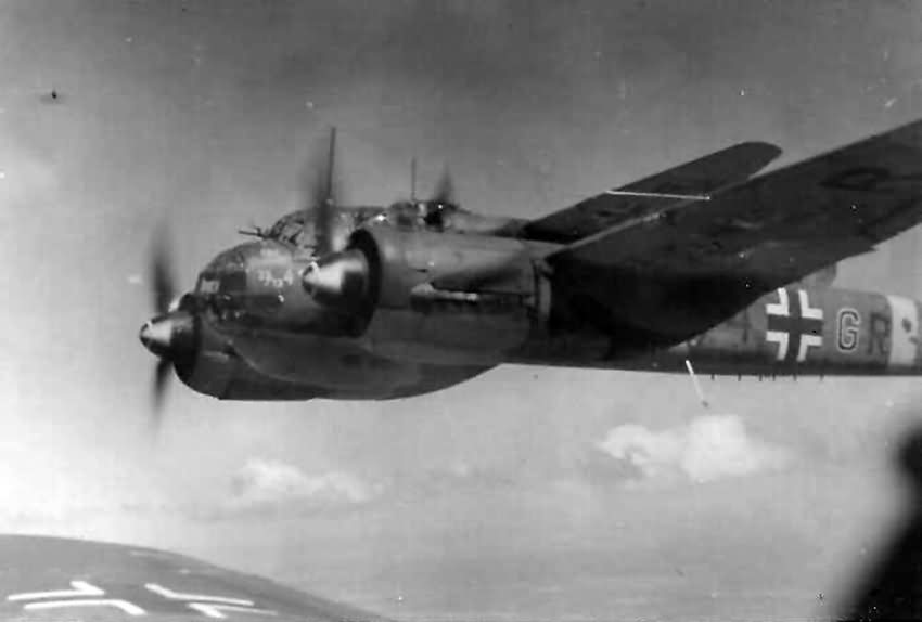 Ju88 bombers in flight