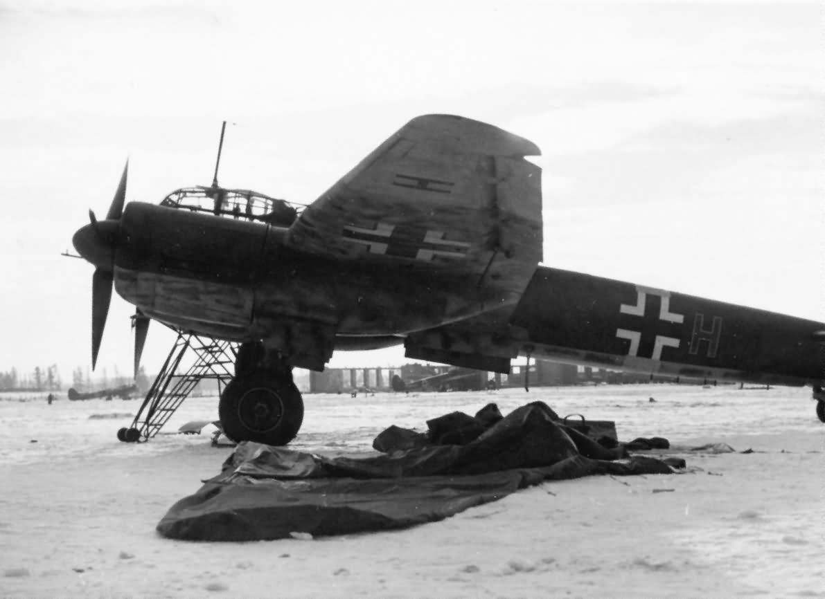 Ju88 at a captured Soviet airfield