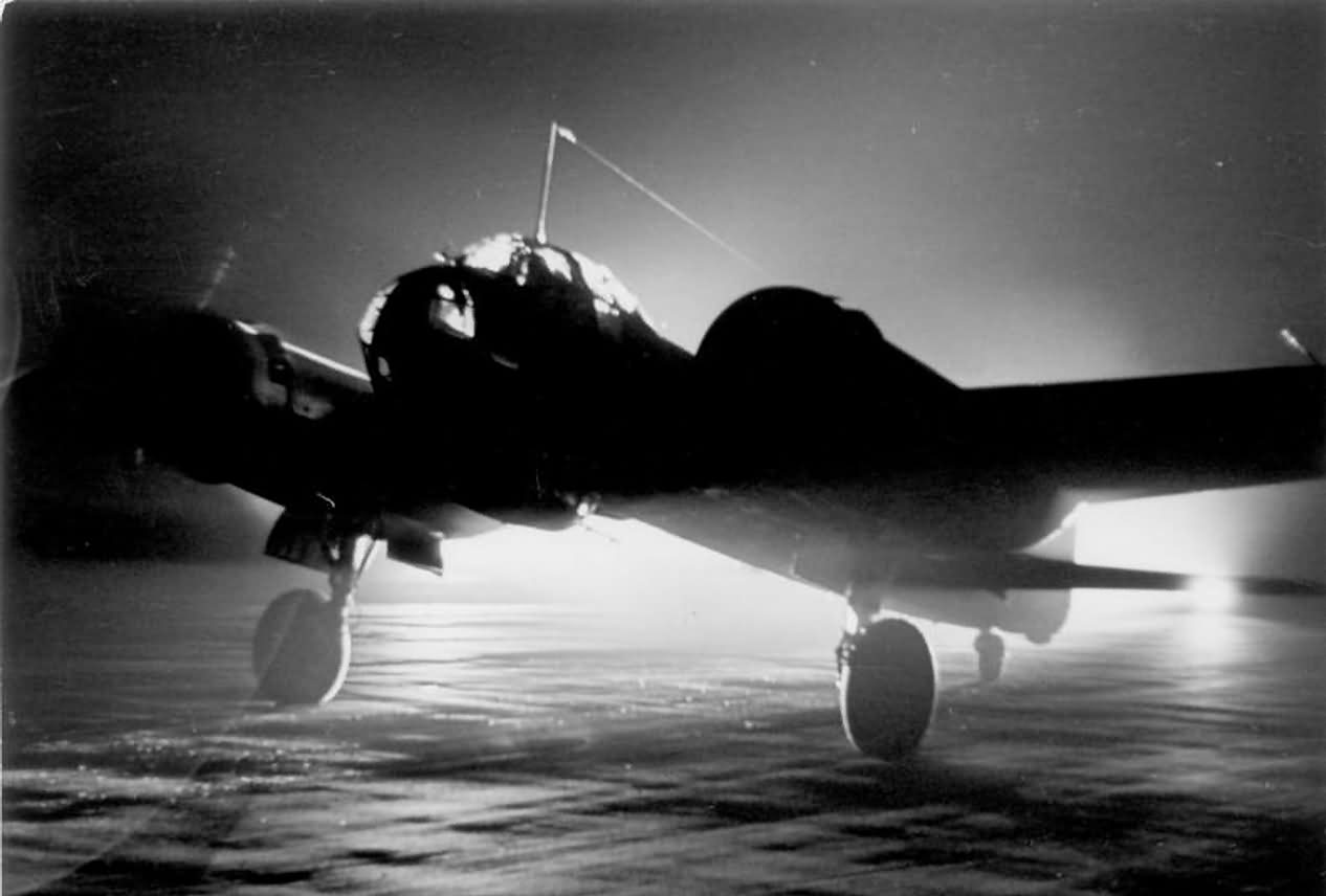Ju 88 inght photo France