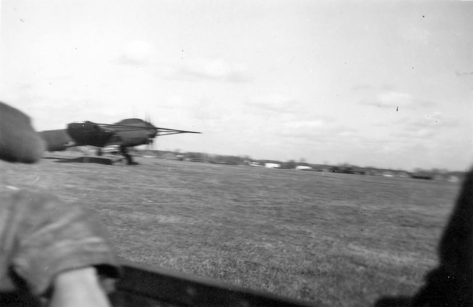 Junkers Ju88 A-6, bomber with large cable-cutting device to counter barrage balloons.