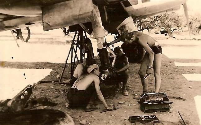Luftwaffe mechanics servicing a Junkers Ju88 Kreta 2