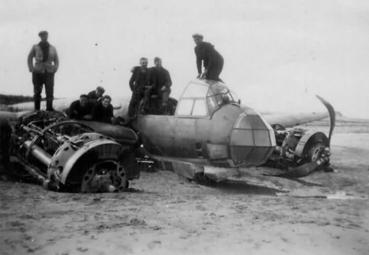Junkers Ju88 destroyed