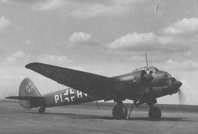 Junkers Ju88 parked at an unidentified airfield