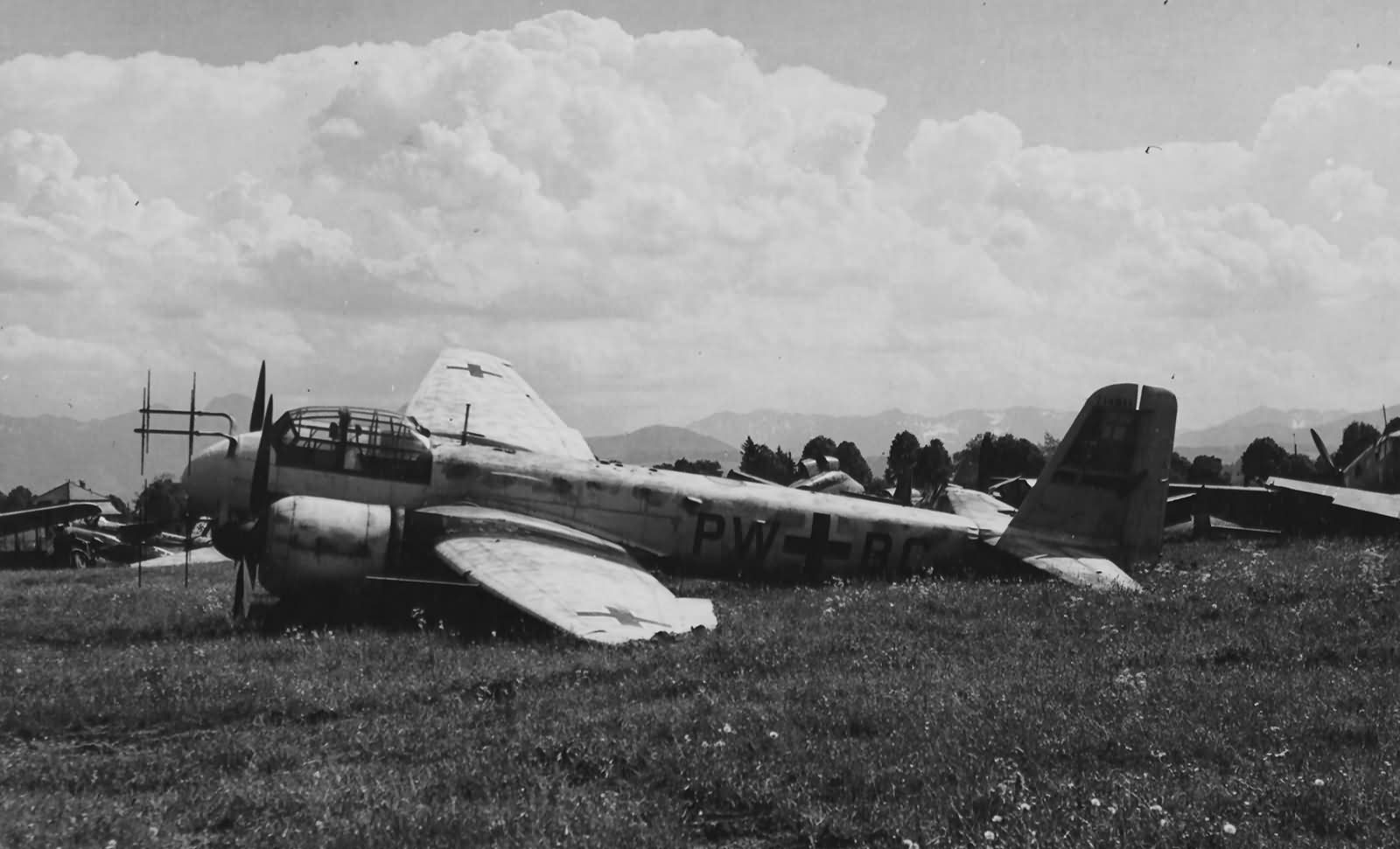 Night fighter Junkers Ju 88 G-1 WNr 714811 PW+BC May 1945 Bad Abling