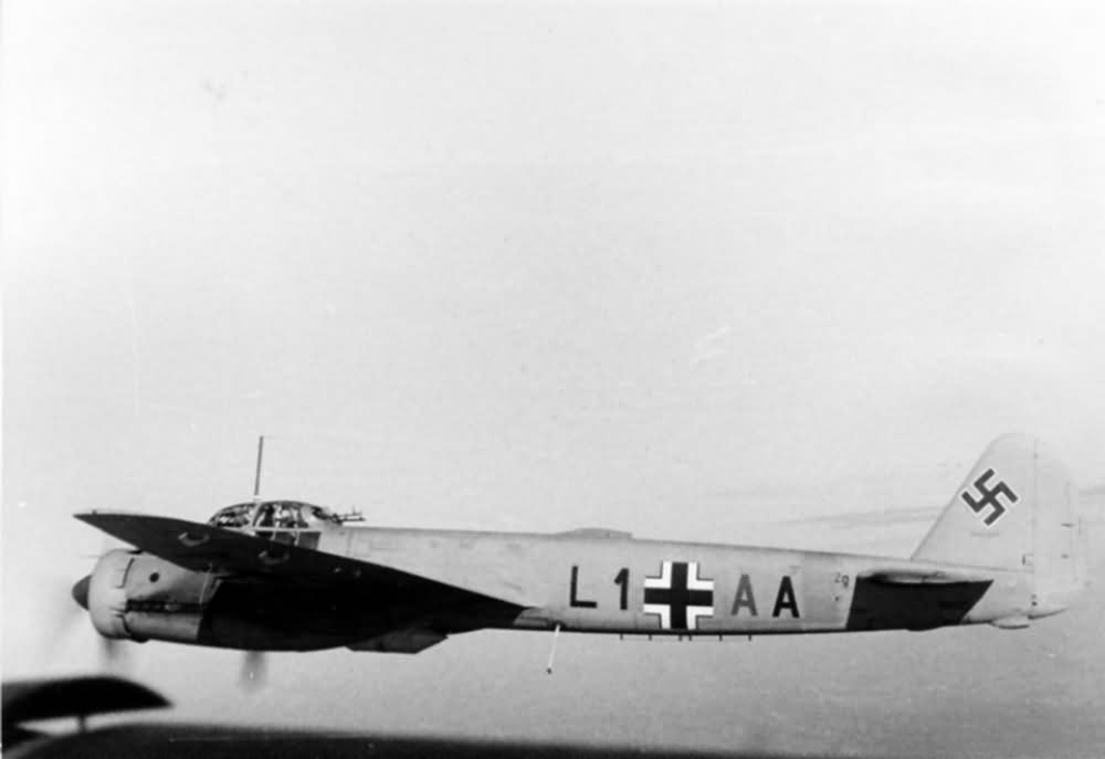 Junkers Ju 88 L1+AA of the LG1 in flight