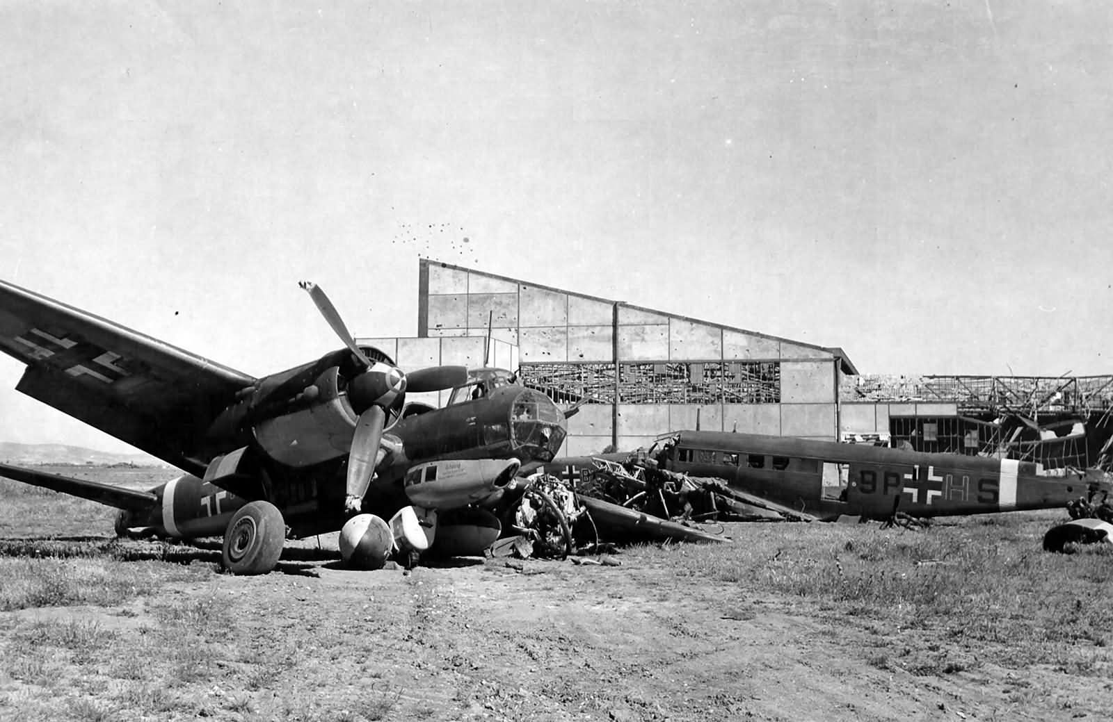 Junkers Ju 88 and Ju52 9P+HS of Kampfgruppe zbV 9 Tunisia