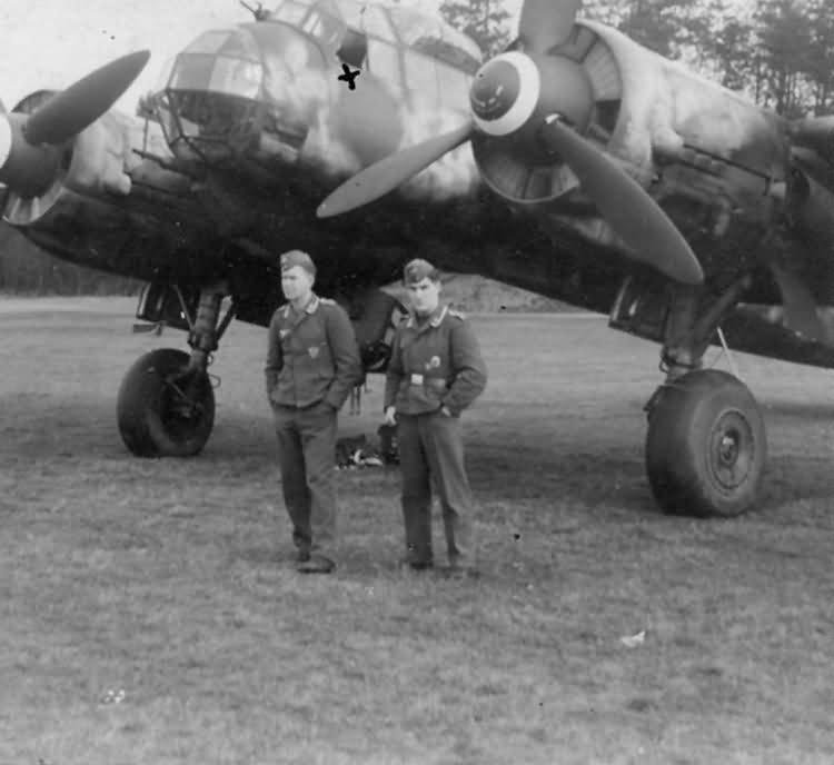 Junkers Ju 88 and crew