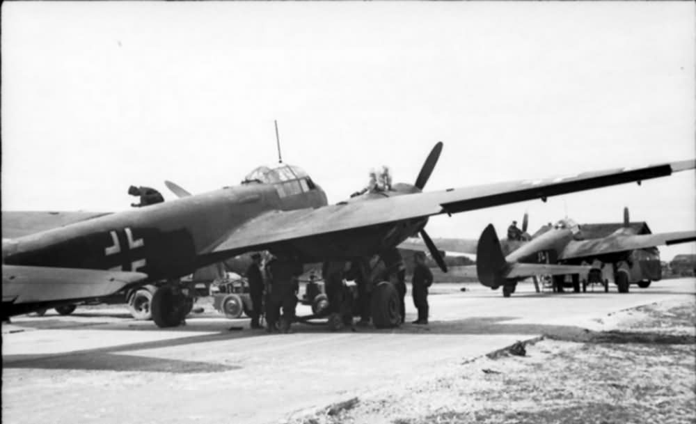Junkers Ju 88 night camo France