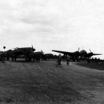 Captured Ju88 and Fw190 England April 1944
