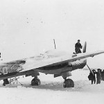 Junkers Ju 88 on the snow-covered airfield