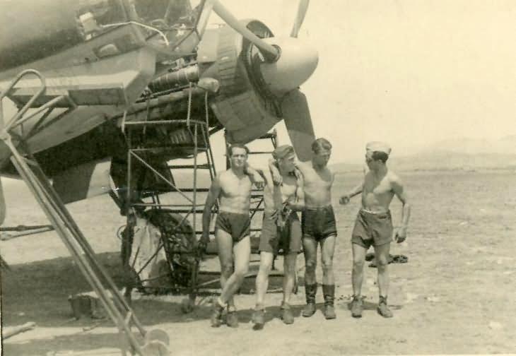 Junkers Ju88 during maintenance – Africa DAK