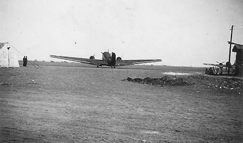 Ju52 Tranport Plane on airfield